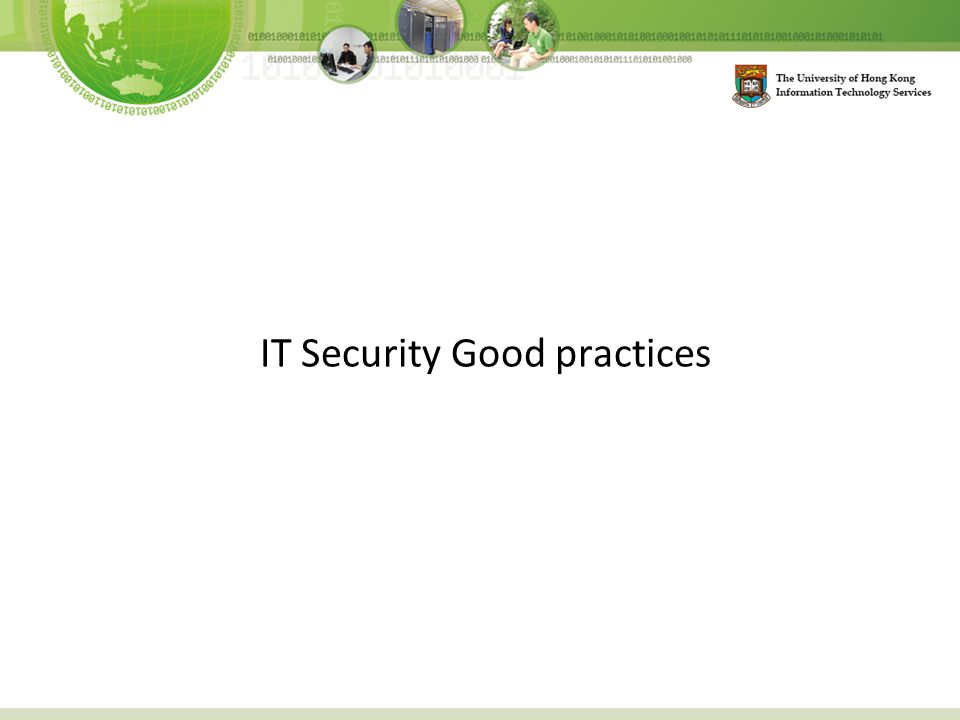 IT Security Good practices