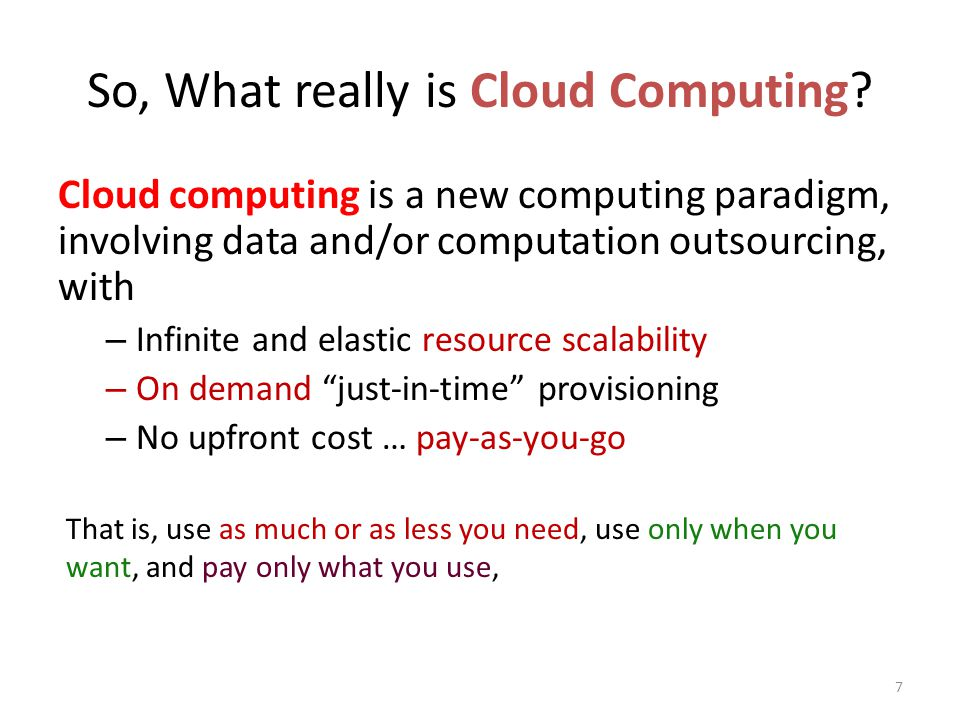 So, What really is Cloud Computing.