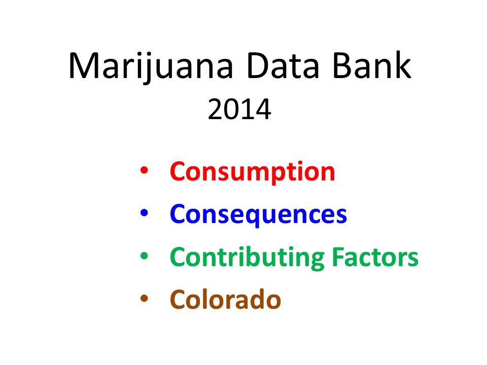 Marijuana Data Bank 2014 Consumption Consequences Contributing Factors Colorado