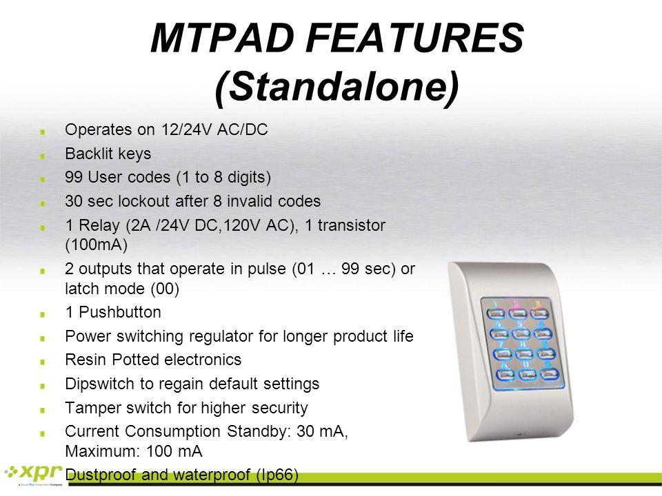 MTPADS PRODUCT REFERENCES MTPADCMTPADBMTPADRMTPADGMTPADW