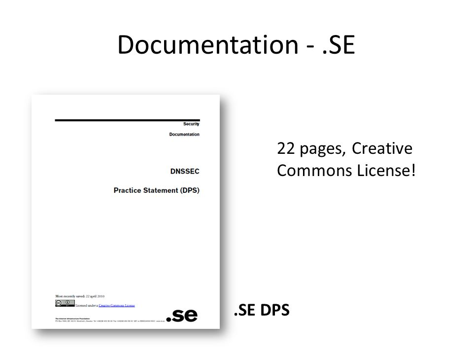 Documentation -.SE 22 pages, Creative Commons License!.SE DPS