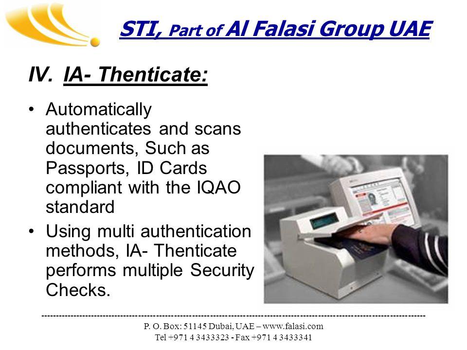 STI, Part of Al Falasi Group UAE --------------------------------------------------------------------------------------------------------------------------------- P.
