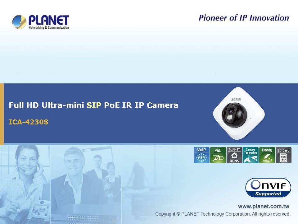Full HD Ultra-mini SIP PoE IR IP Camera ICA-4230S