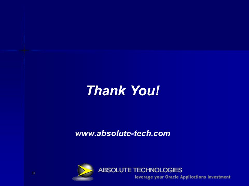 32 Thank You! www.absolute-tech.com