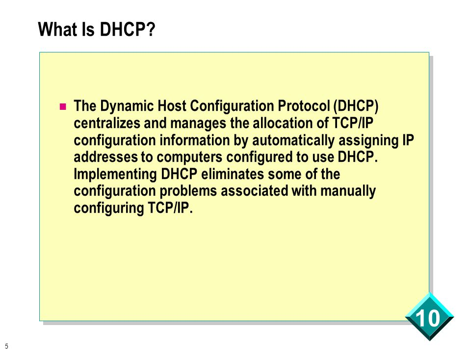 5 10 What Is DHCP.