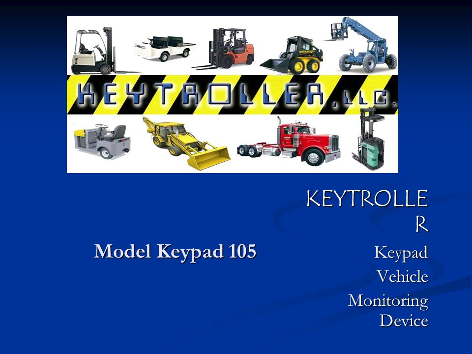 KEYTROLLER 105 COMPONENTS KEYPAD-- Code or RFID Card Option KEYPAD-- Code or RFID Card Option FLASHING ALARM/SIREN— Wires into relay (optional) FLASHING ALARM/SIREN— Wires into relay (optional) SHOCK/MEMORY/SPEED MODULE — Plugs into keypad---stores impact sensors, real time clock and memory.