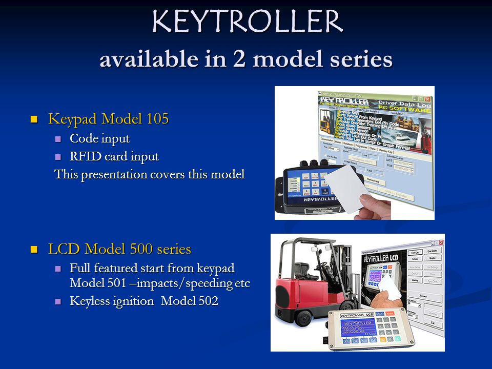 Enable with--code or RFID card Key Switch Eliminated—start directly from keypad.