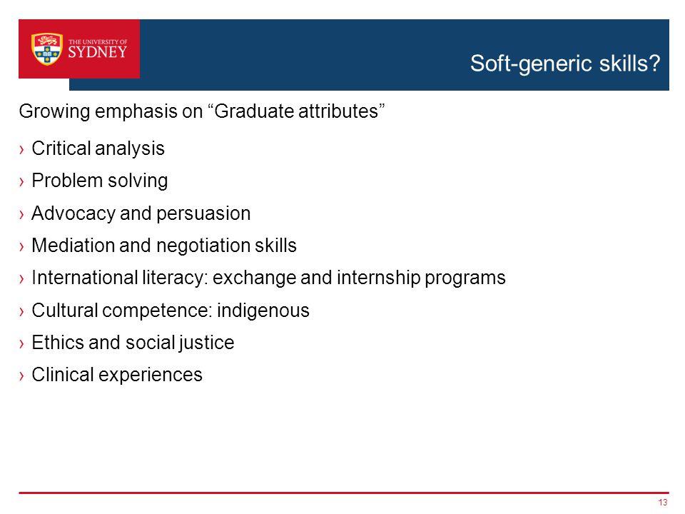Soft-generic skills.