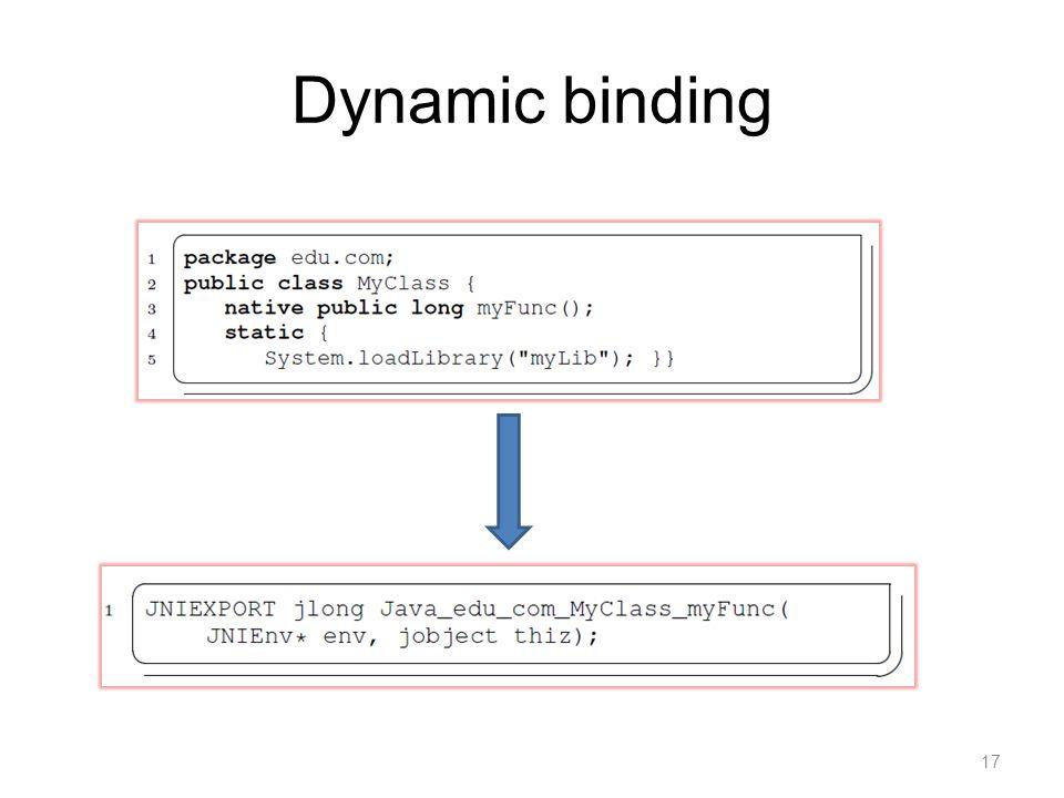 Dynamic binding 17