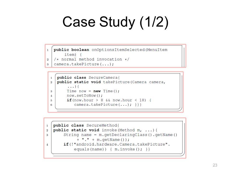 Case Study (1/2) 23