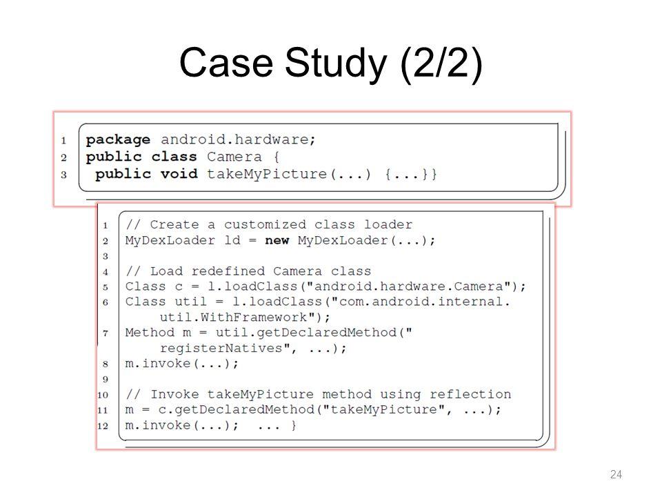 Case Study (2/2) 24