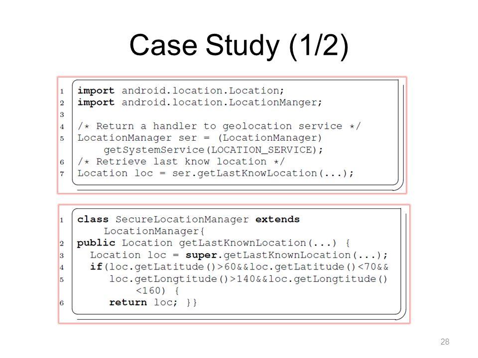 Case Study (1/2) 28