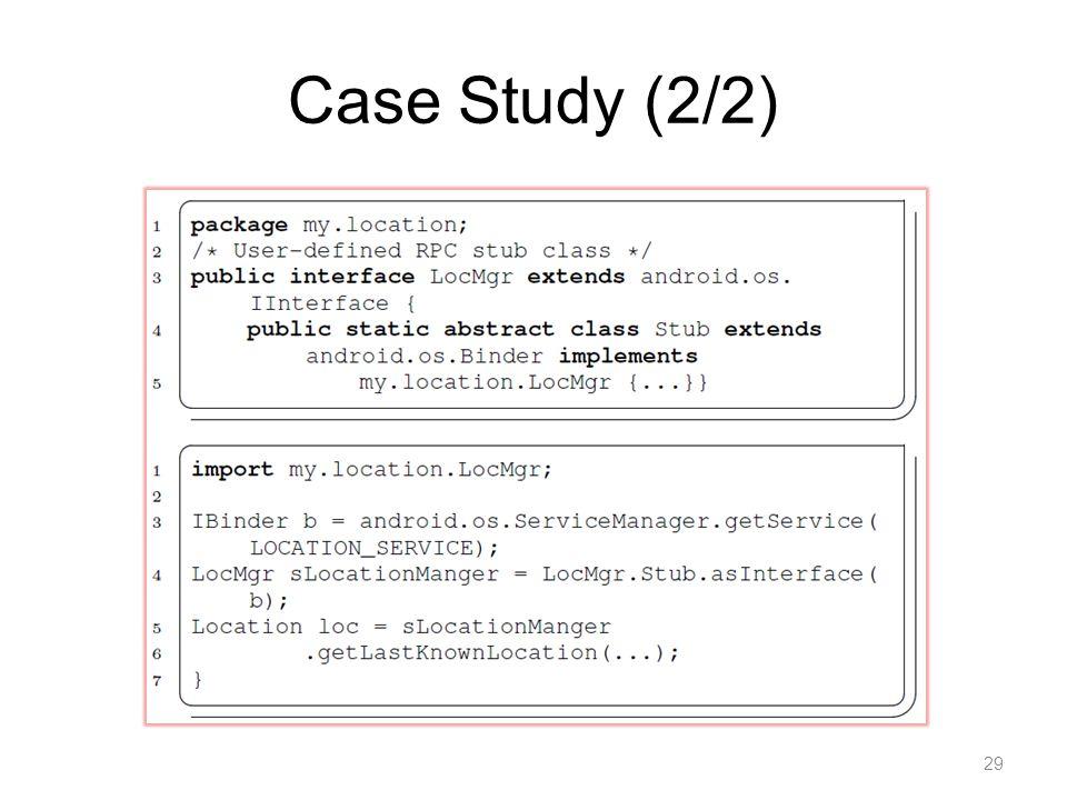 Case Study (2/2) 29