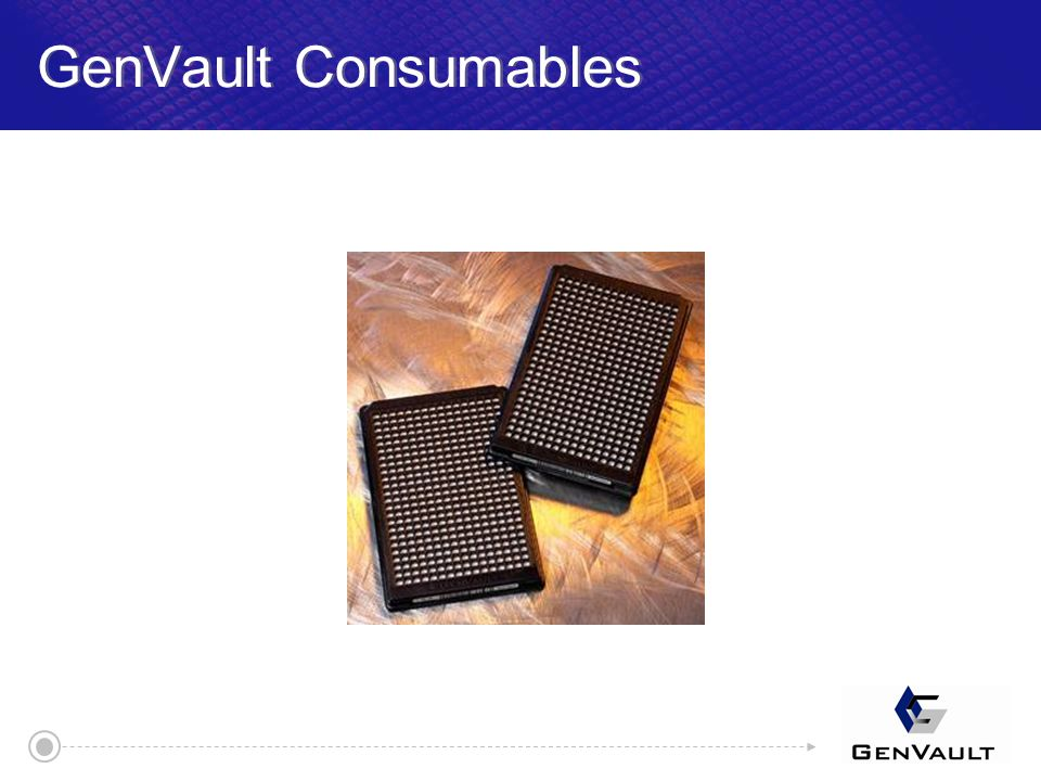 GenVault Consumables