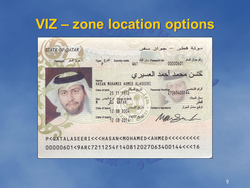 9 VIZ – zone location options