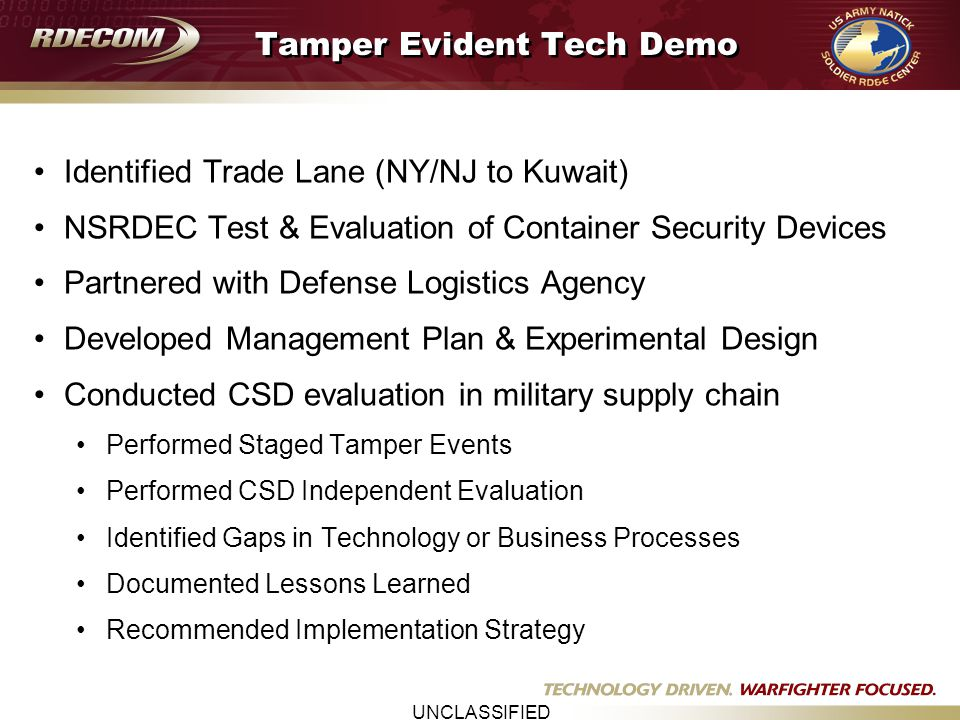 UNCLASSIFIED Tracking of Impeva Devices Port of NY/NJ Sept. 8, 2006 Real Time Visibility