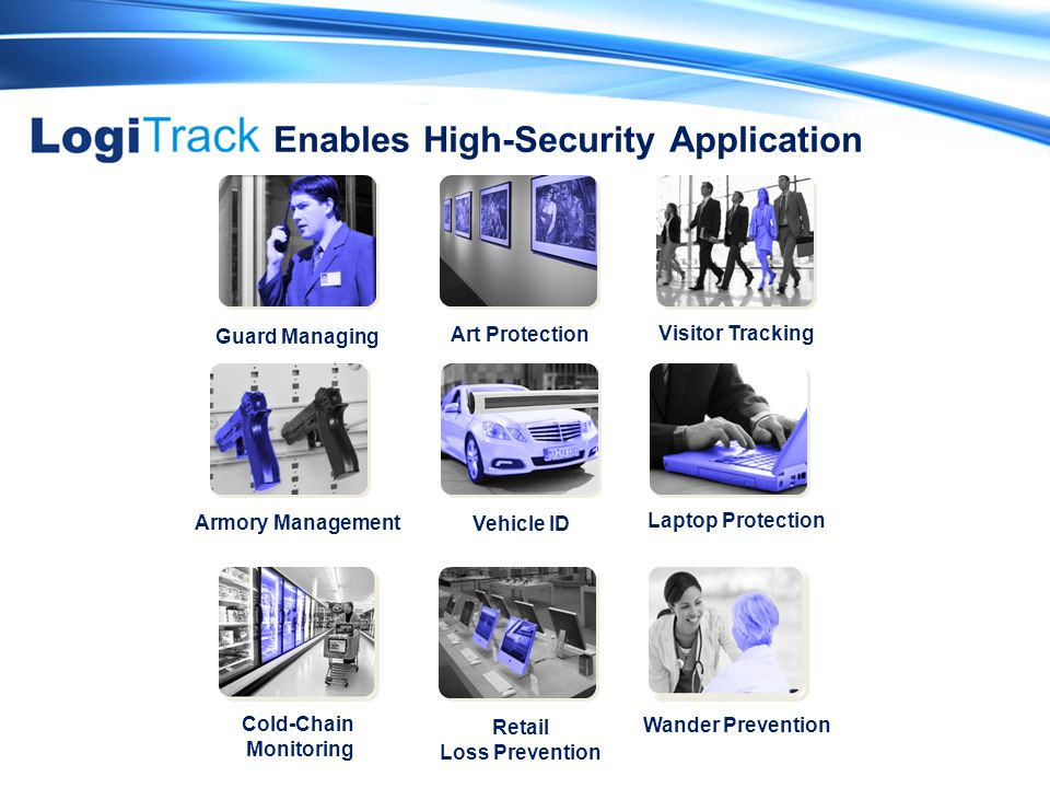 Laptop Protection Visitor Tracking Guard Managing Vehicle ID Armory Management Art Protection Enables High-Security Application Cold-Chain Monitoring Retail Loss Prevention Wander Prevention