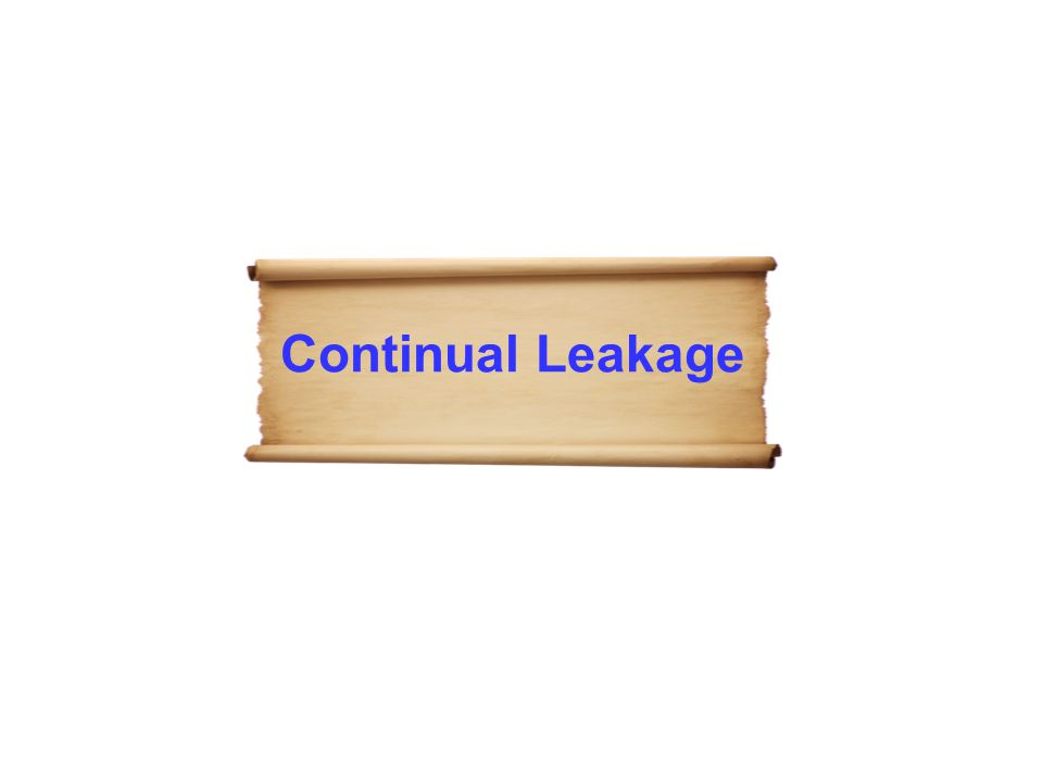 Continual Leakage