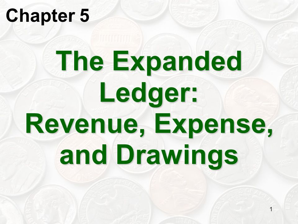 2 Expanding the Ledger Through the first four chapters we have looked at the fundamental accounting equation … A ssets = L iabilities + O wner's E quity This resulted in a single account for owner's equity.