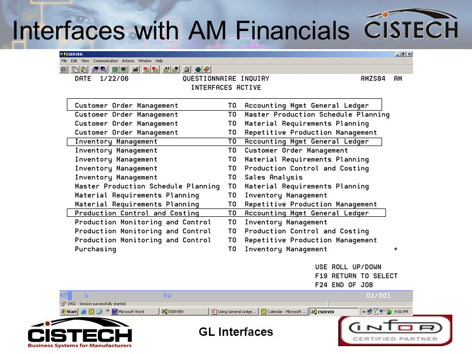 GL Interfaces 12 Interfaces with AM Financials