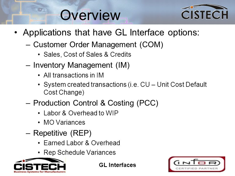 GL Interfaces 44 Summary File Maintenance –Tailor applications for General Ledger Distribution –Decide whether to activate the interface to the General Ledger –Create Rules –Create Priorities –Select which transactions will be collected (this is normally timed to coincide with the first day of a fiscal period)
