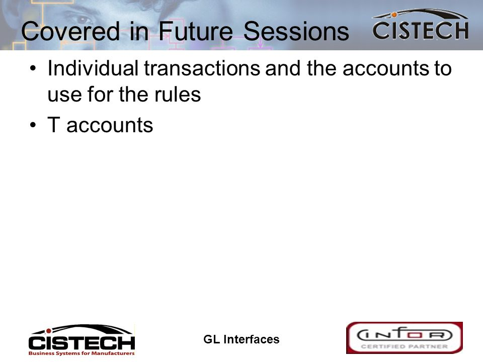 GL Interfaces 28 Assigning Accounts Accounts can be assigned to only the transactions that have not had an account number assigned or to all transactions Assignment can be done with a job running through the job queue or interactively Individual transactions can be selected for assignment