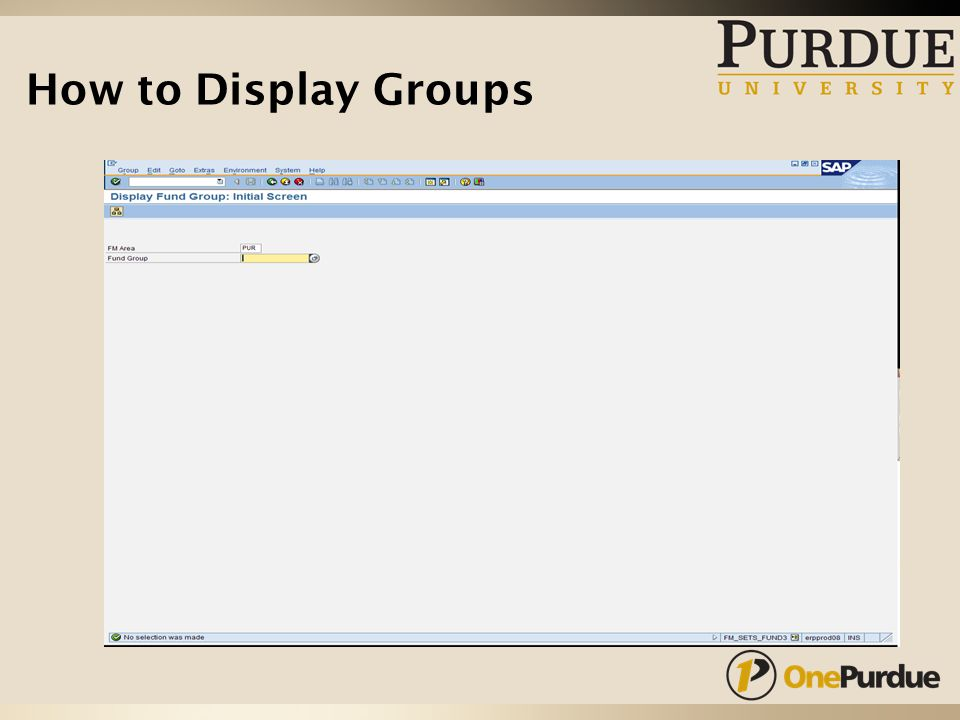 How to Display Groups