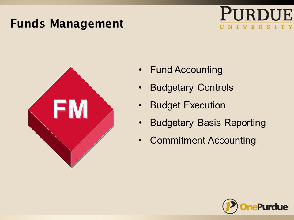 Funds Management FM Fund Accounting Budgetary Controls Budget Execution Budgetary Basis Reporting Commitment Accounting
