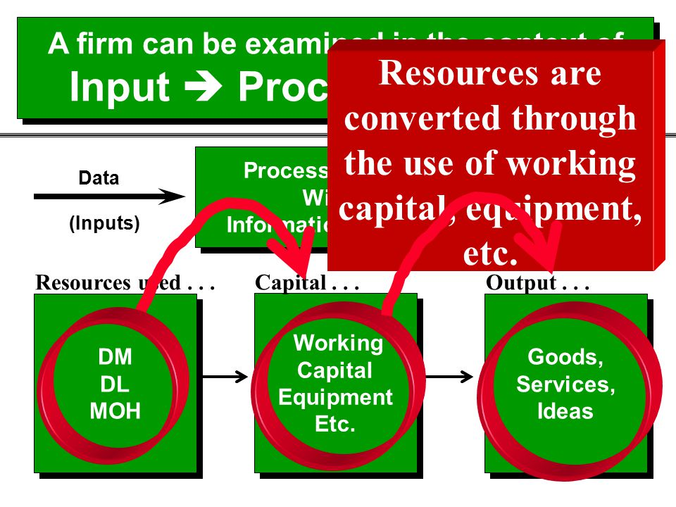 A firm can be examined in the context of Input  Process  Output Processing Steps Within Information Systems Processing Steps Within Information Syst