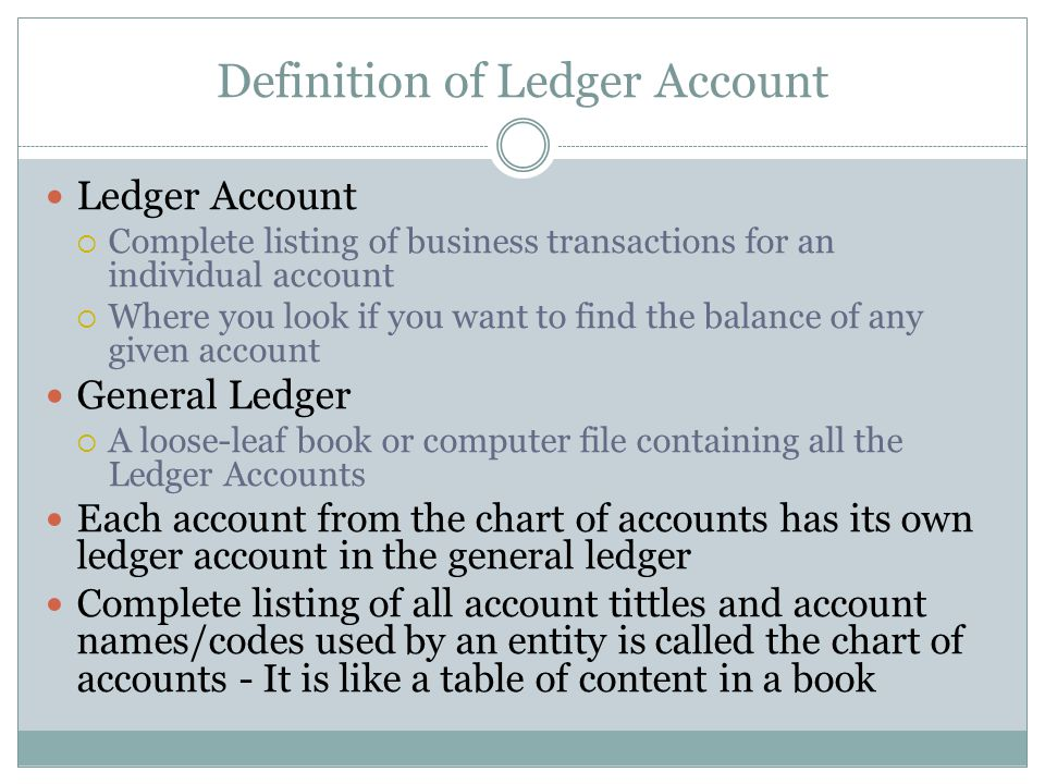 How do we record/Account? An ACCOUNT (ledger Account) : is an accounting device used to record changes in a of a specific asset, liability or owners'