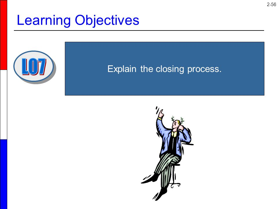 2-56 Learning Objectives Explain the closing process.