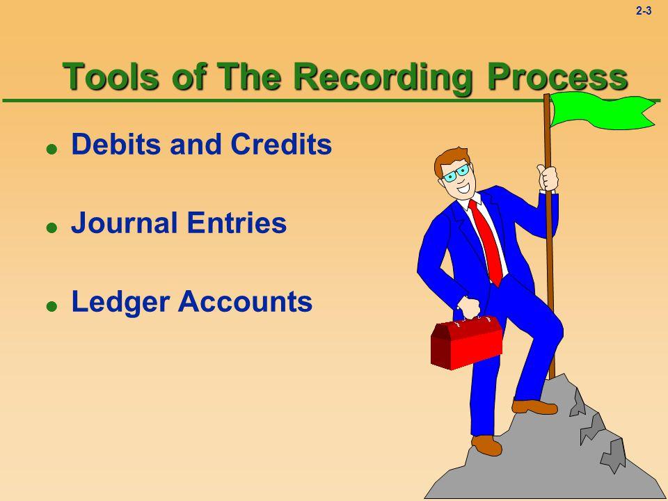 2-3 Tools of The Recording Process l Debits and Credits l Journal Entries l Ledger Accounts
