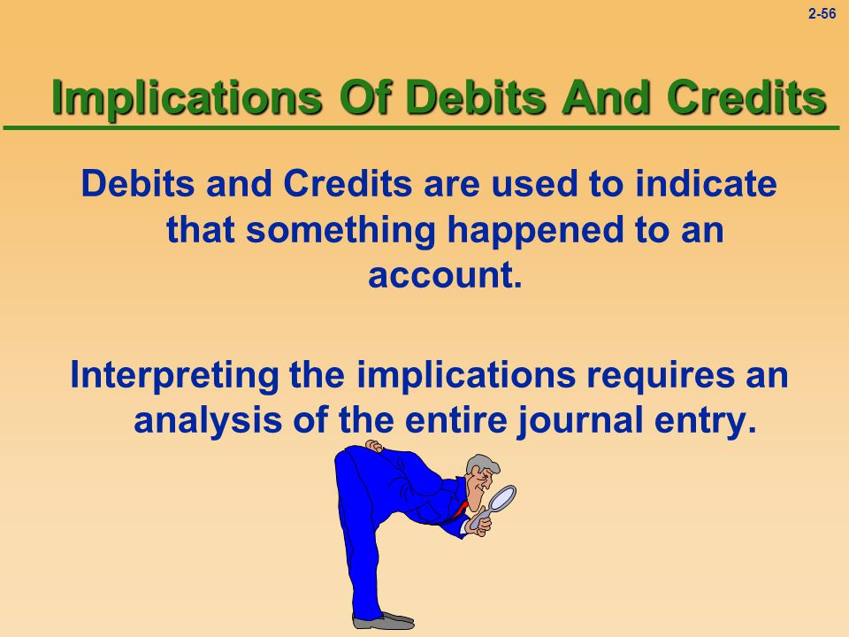 2-55 The Cash account has three entries: a debit for $1,200, a credit for $300, and another credit for $400.