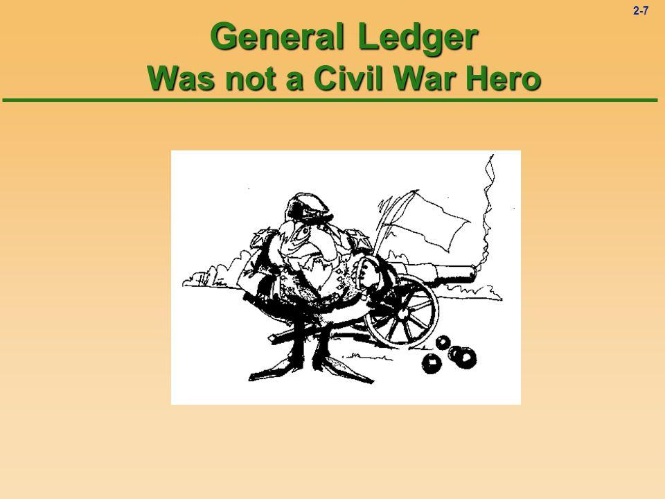 2-7 General Ledger Was not a Civil War Hero