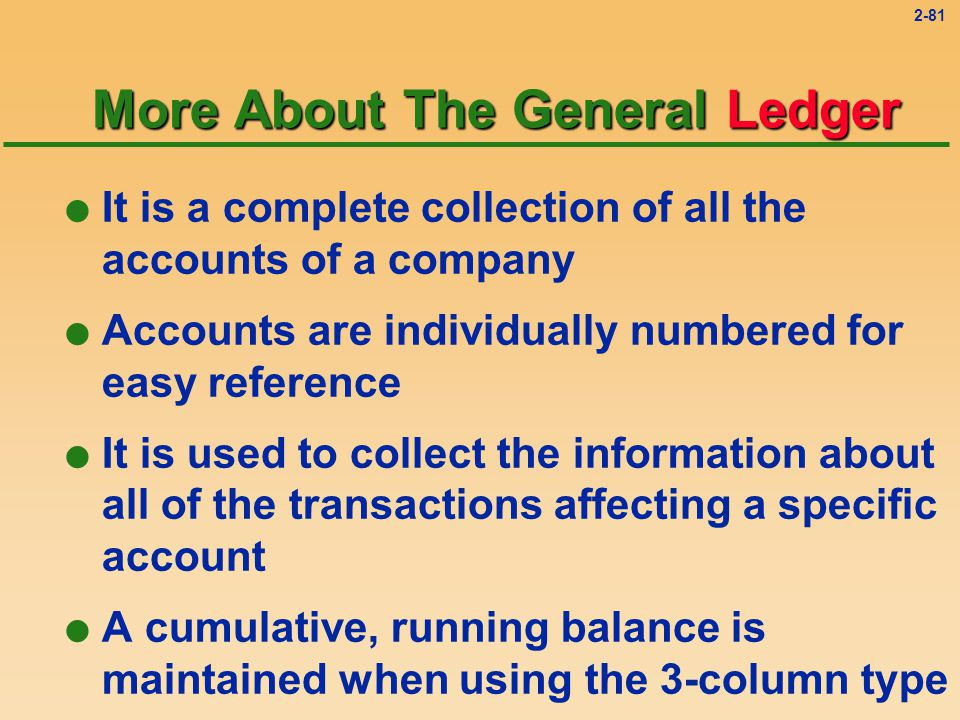 2-80 Journal Entries Solution 3 l Two accounts are affected: u Utility Expense is increased by $400.