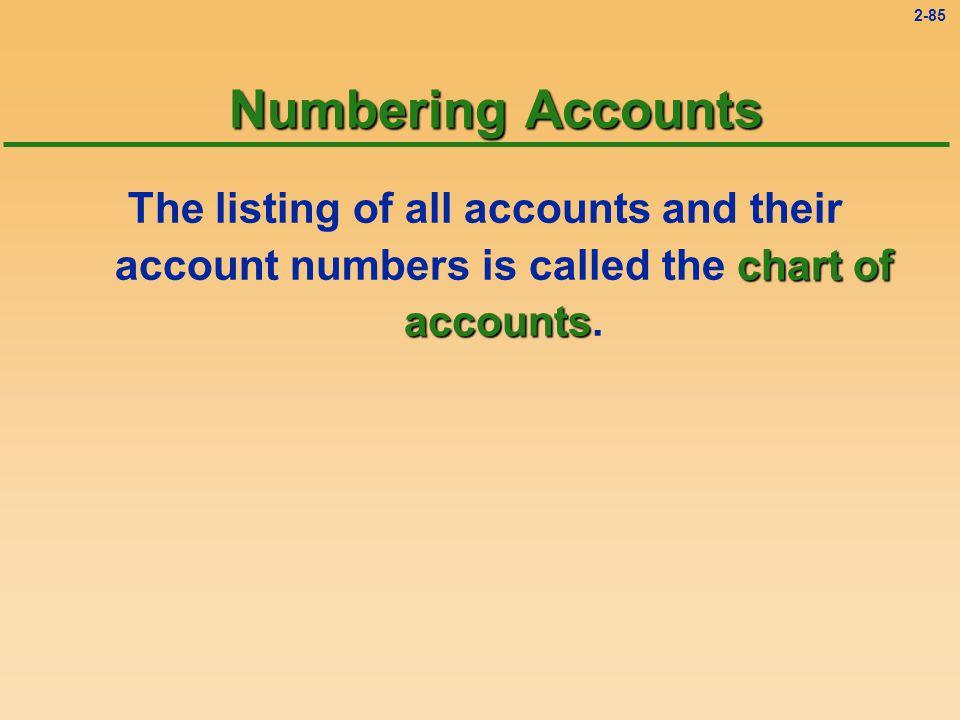 2-84 Nominal Accounts l Nominal accounts include revenues and expenses.