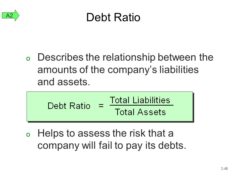 o Describes the relationship between the amounts of the company's liabilities and assets. o Helps to assess the risk that a company will fail to pay i