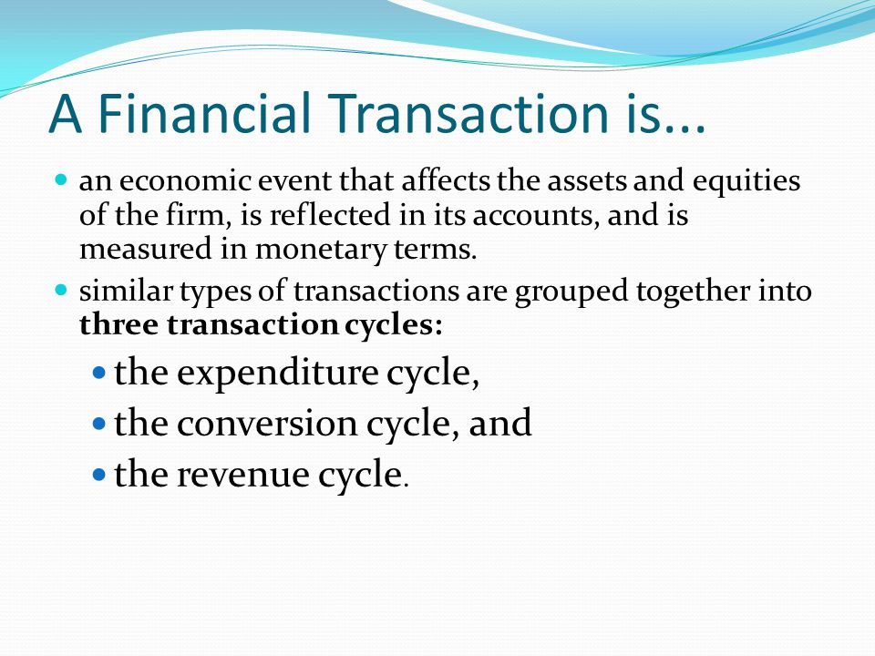 Relationship between Transaction Cycles