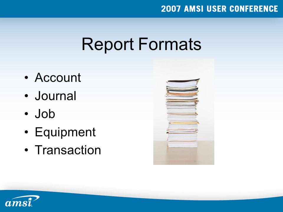 Account Format