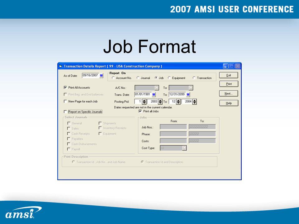 Job Format