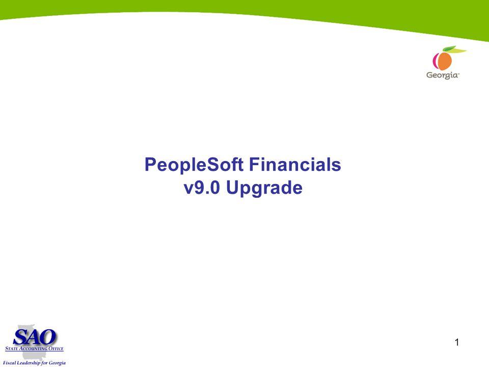 1 PeopleSoft Financials v9.0 Upgrade