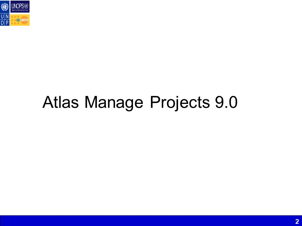 2 Atlas Manage Projects 9.0