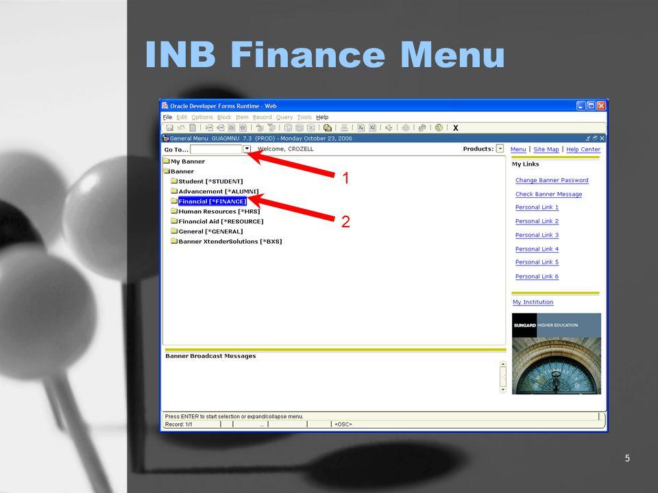 6 Finance Menu