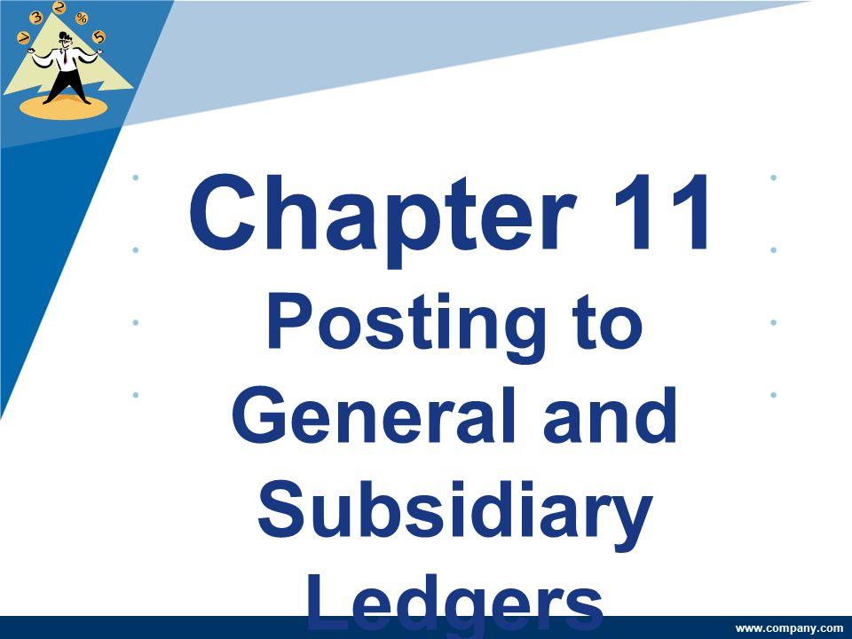 www.company.com Chapter 11 Posting to General and Subsidiary Ledgers