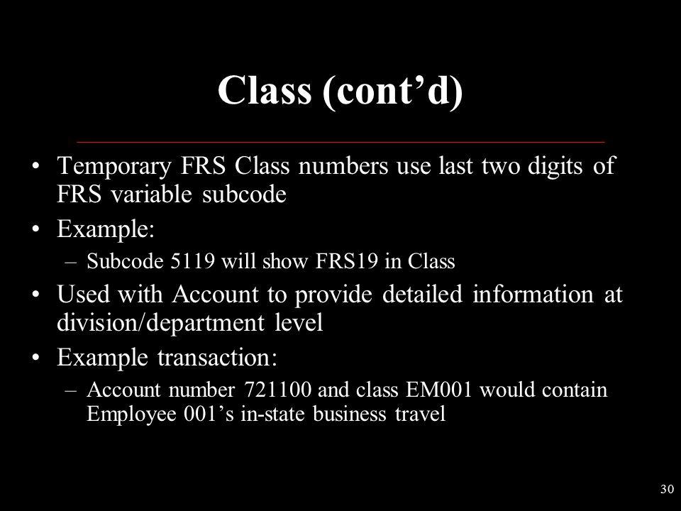 29 Predefined Classes