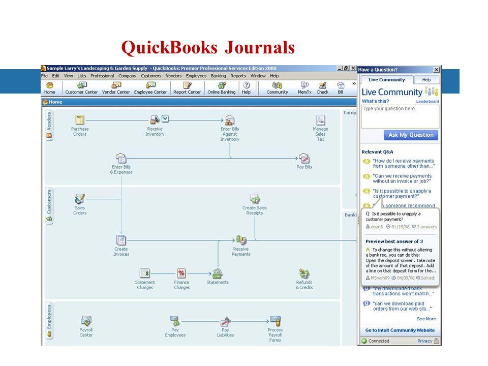 QuickBooks Journals
