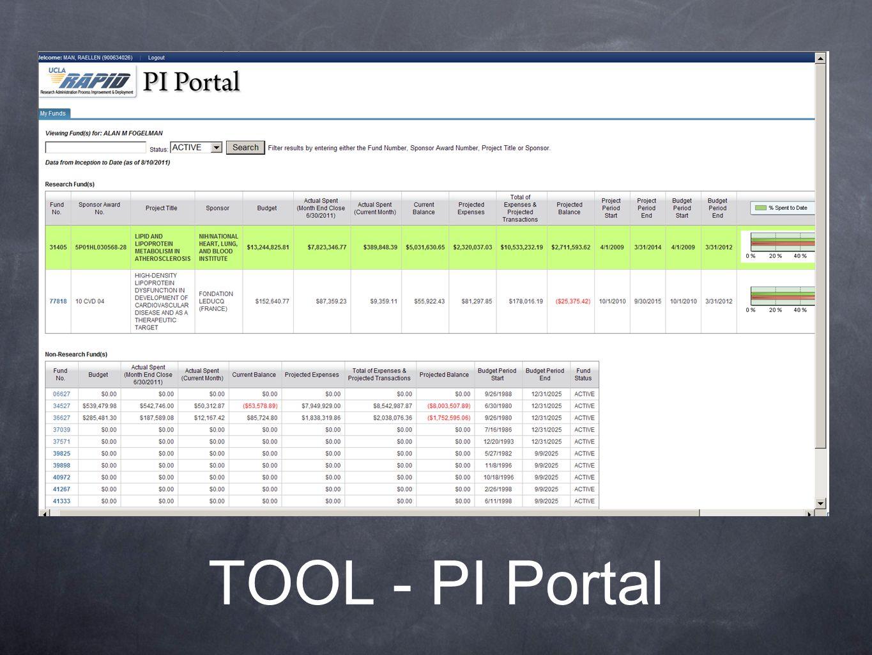 TOOL - PI Portal