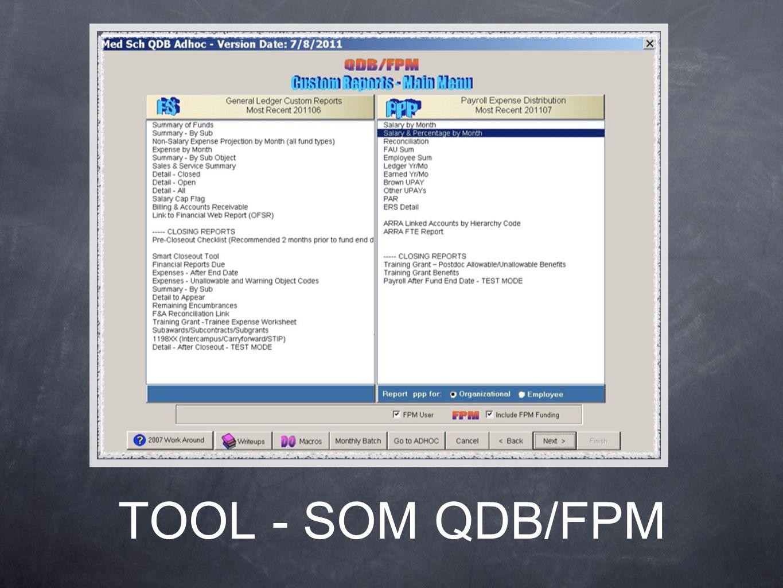 TOOL - SOM QDB/FPM