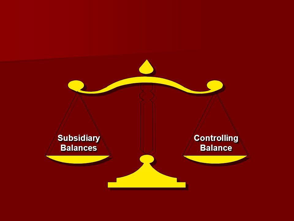 Subsidiary Balances Controlling Balance