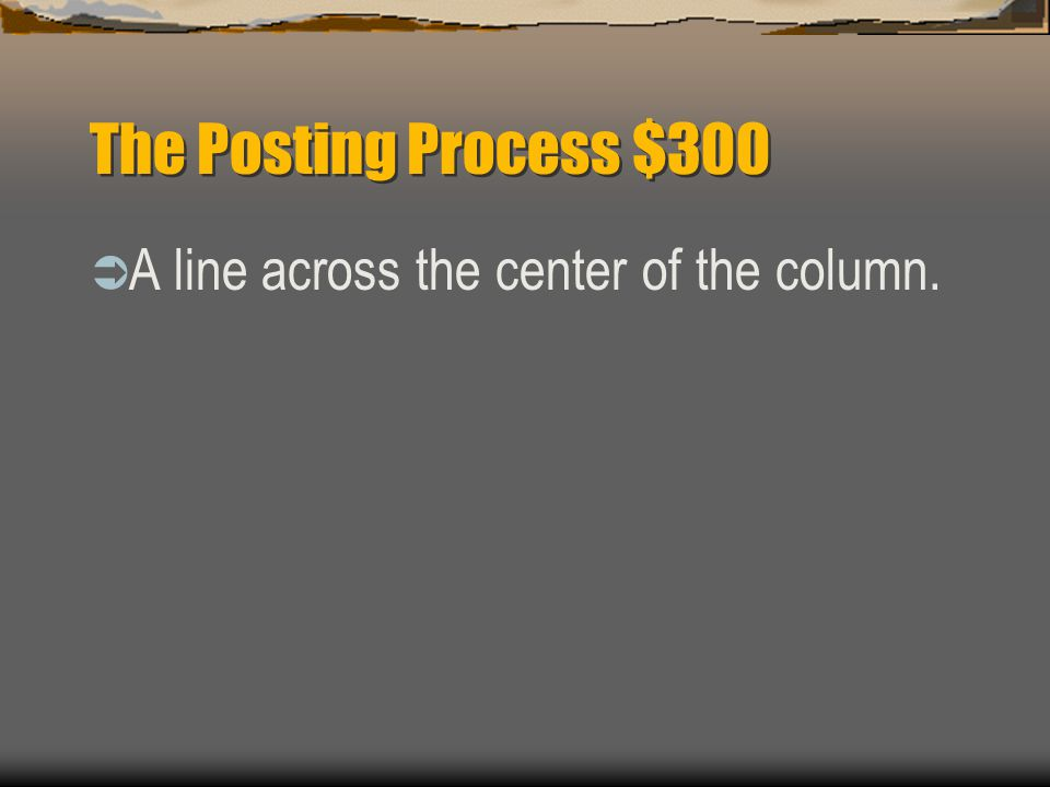 The Posting Process $200  What number starts the numbering of asset accounts